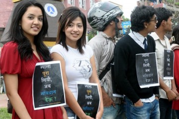 Sahana Bajracharya and Sadichha Shrestha